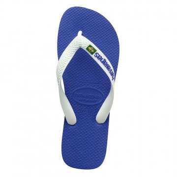Havaianas Brasil Logo Sandals Marine Blue