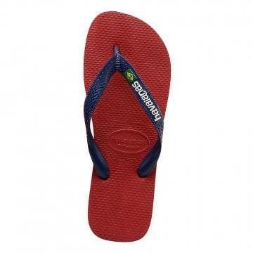 Havaianas Brasil Logo Sandals Apache Red