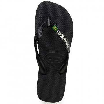Havaianas Brasil Logo Sandals Black/Black