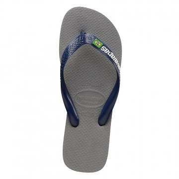 Havaianas Brasil Logo Sandals Grey/Navy