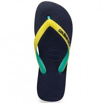 Havaianas Top Mix Sandals Navy/Neon Yellow