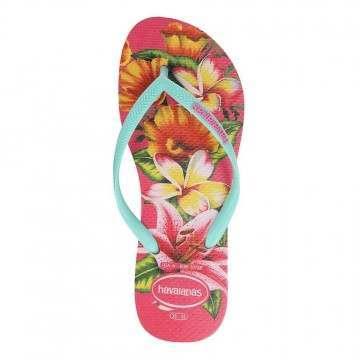 Havaianas Slim Floral Sandals Hollywood Rose