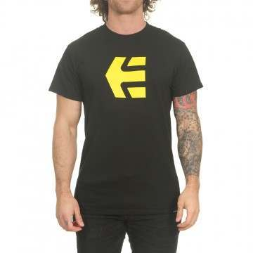 Etnies Icon Tee Black/Yellow