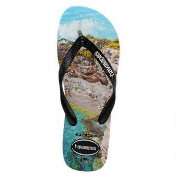 Havaianas Top Photoprint Sandals Black/Tur