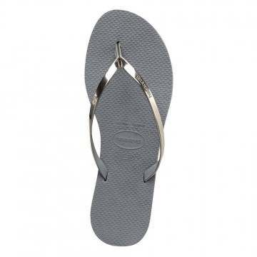 Havaianas You Metallic Sandals Steel Grey