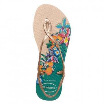 Havaianas Luna Print Sandals Beige