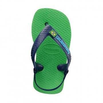 Havaianas Baby Brasil Logo Sandals Green