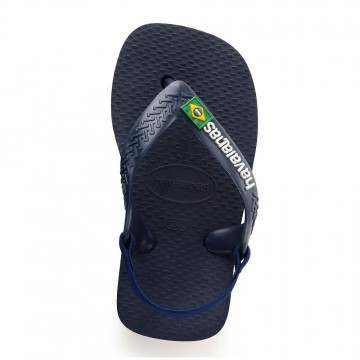 Havaianas Baby Brasil Logo Sandals Blue/Yellow
