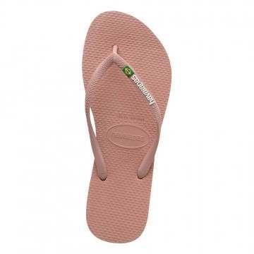 Havaianas Slim Brasil Logo Sandals Cro Rose