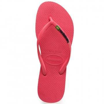 Havaianas Slim Brasil Logo Sandals Flamingo
