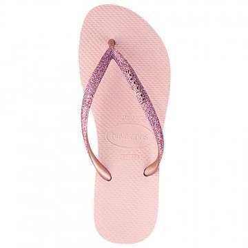Havaianas Slim Glitter Sandals Ballet Rose