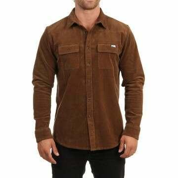 Salty Crew Fireside Corduroy Shirt Tan