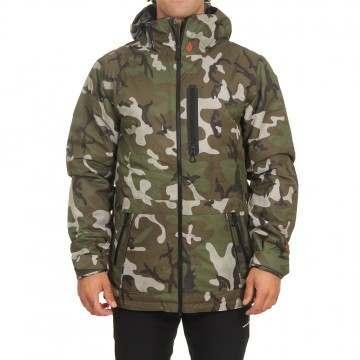Volcom Deadlystones Ins Snow Jacket GI Camo