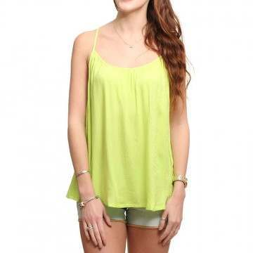 ONEILL SOLID LEOPARD CAMI TOP Lime Punch