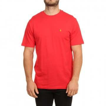 Volcom Stone Blanks Tee Fiery Red