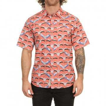Kavu The Jam Shirt Flamingo Flys North