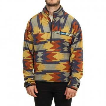 Kavu Winter Throwshirt 1/4 Zip Fleece Strat Geo