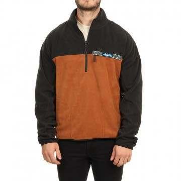 Kavu Winter Throwshirt 1/4 Zip Fleece Tundra