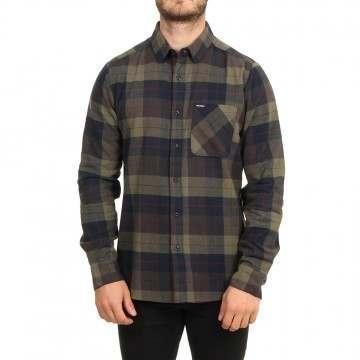 Volcom Caden Plaid Shirt Army Green Combo
