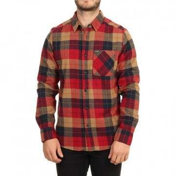 Volcom Caden Plaid Shirt Rio Red