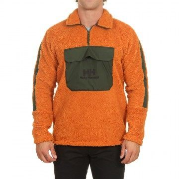 Helly Hansen YU 1/2 Zip Pile Sweater Marmalade