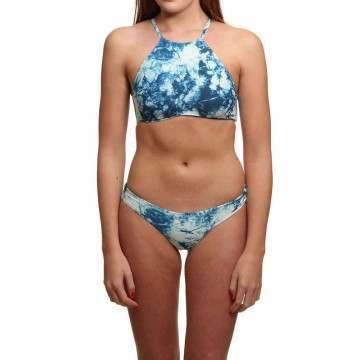 ONeill High Neck Bikini Blue AOP