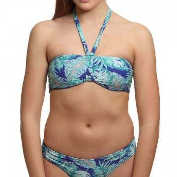 ONeill Rever Bandeau Bikini Top Blue/Green
