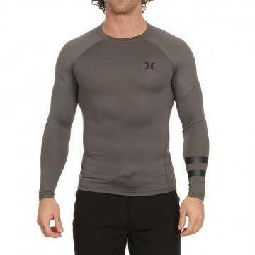 Hurley Pro Light Long Sleeve Rash Vest Grey