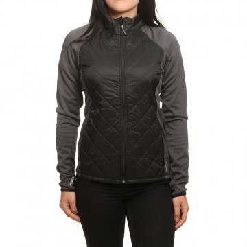 ONeill Hooded Baffle Fleece Jacket Black
