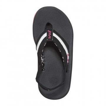 REEF GIRLS LITTLE LUCIA SANDALS Black/Hot Pink