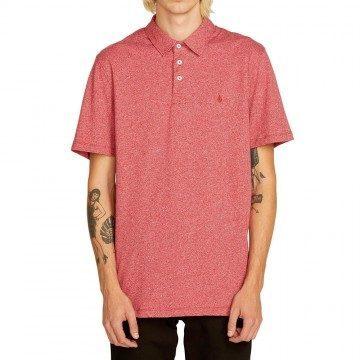Volcom Wowzer Polo Shirt Burgundy