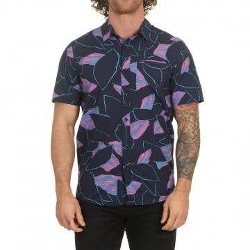 Volcom Secret Leaf Shirt Blue/Black