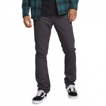 Volcom Vorta 5 Pocket Slub Trousers Asphalt Black