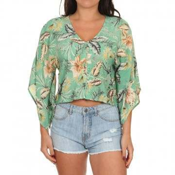 Amuse Society Brisa Long Sleeve Top Island Green