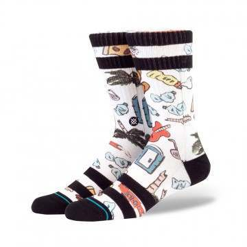 Stance Festival Trash Socks White