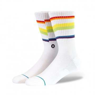 Stance Glitch Rainbow Socks White