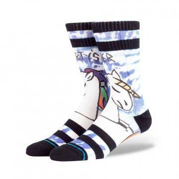 Stance Partys Over Crew Socks White