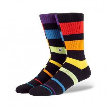 Stance Rainbow Stripe Socks Black