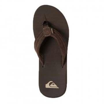 Quiksilver Carver Suede Leather Sandals Demitasse