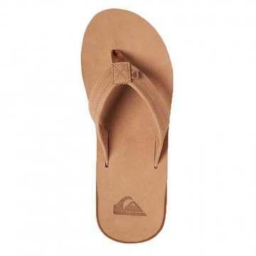 Quiksilver Erreka Leather Sandals Tan