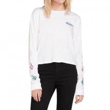 Volcom Stones Long Sleeve Top White