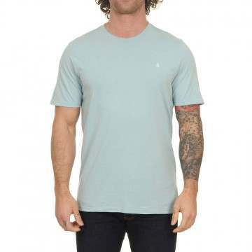 Volcom Solid Stone Emb Tee Cool Blue