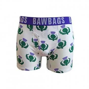 BAWBAGS THISTLE BOXERS Green/Purple