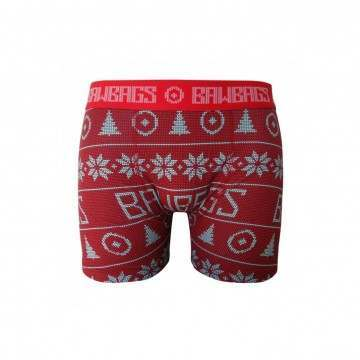 Bawbags Xmas Boxers Red