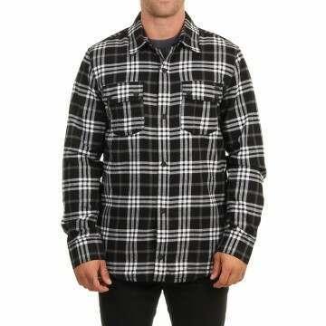 Volcom Sherpa Flannel Jacket Black
