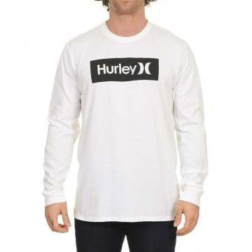 Hurley One & Only Boxed Long Sleeve Top White/Black