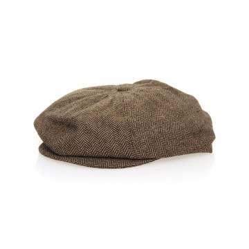Brixton Brood Snap Cap Brown/Khaki