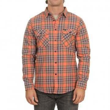 Brixton Bowery Flannel Shirt Salmon/Navy