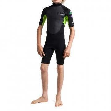 CSkins Kids Element 3/2 Shorty Wetsuit Black/Lime