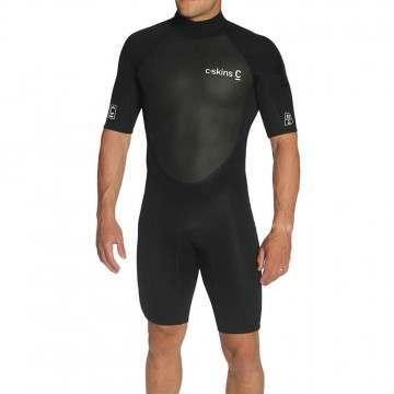 CSkins Element 3/2 Shorty Wetsuit Black